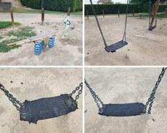 parc infantil en mal estat