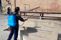 Bell-lloc intensifica els treballs de desinfecció
