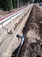 Dotació de la xarxa d'abastament d'aigua potable per tot l'entorn de l'equipament esportiu municipal del Camp de Futbol