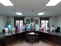 Els nens i nenes de 3r de l'Escola Ramon Farrerons visiten l'Ajuntament