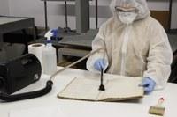 Inici dels treballs de restauració en l'arxiu municipal