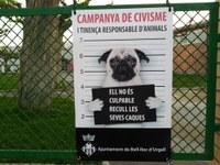 L'Ajuntament de Bell-lloc d'Urgell inicia una campanya de civisme dirigida als propietaris de gossos que no recullen els excrements